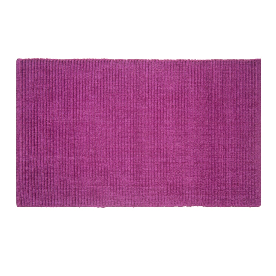 Style Selections Solid Ribbed Chenille Rectangular Indoor Woven Throw Rug