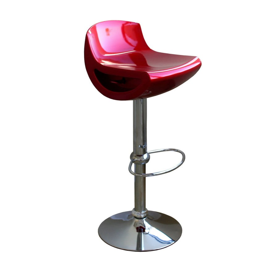 Baxton Studio Red 30.5-in Adjustable Stool