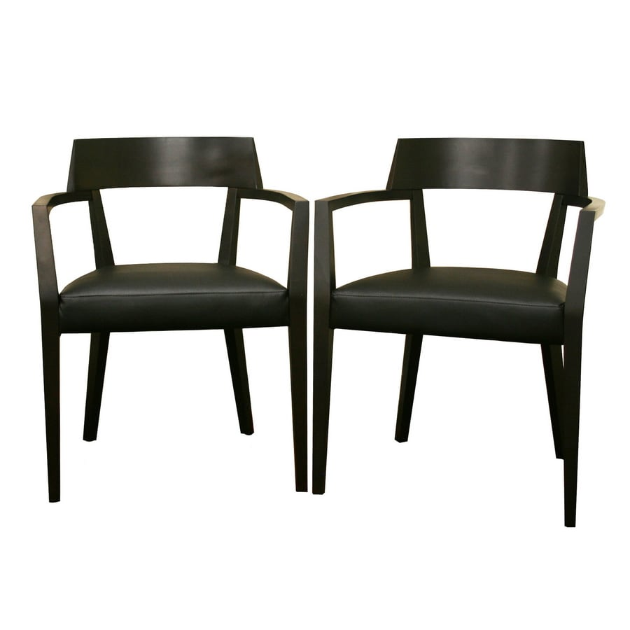Baxton Studio Set of 2 Contemporary Black Side Chairs