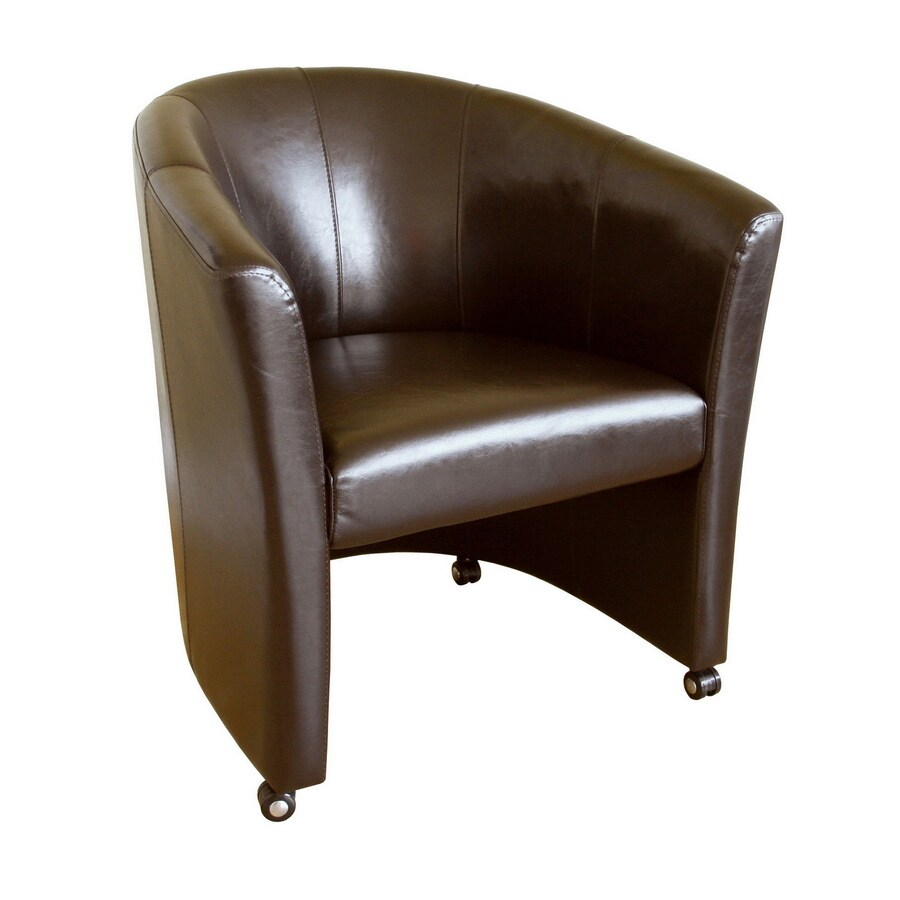 Baxton Studio Modern Brown Faux Leather Club Chair