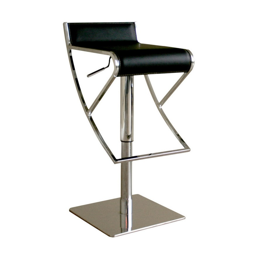 Baxton Studio Modern Black Adjustable Stool