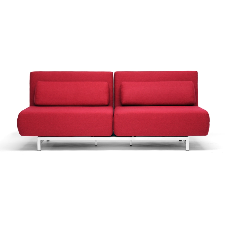 Baxton Studio Red Futon