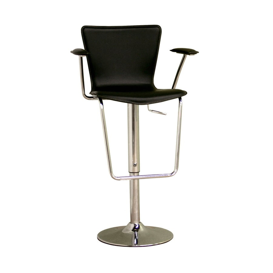 Baxton Studio Black 30-in Adjustable Stool
