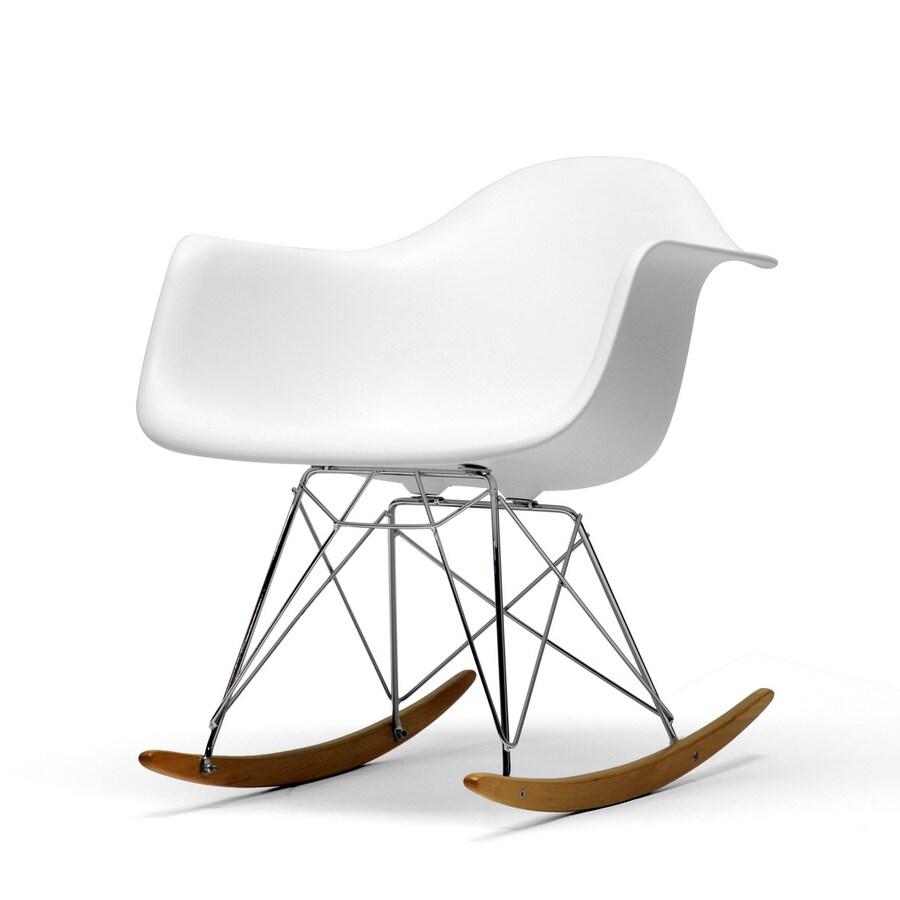 Baxton Studio White Rocking Chair