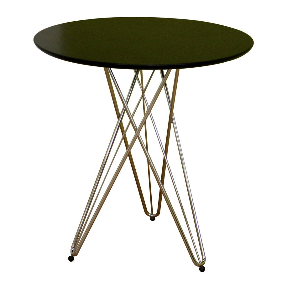 Baxton Studio Black Wood Round Dining Table