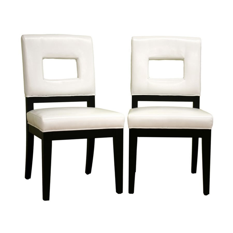 Baxton Studio Set of 2 Baxton White Side Chairs