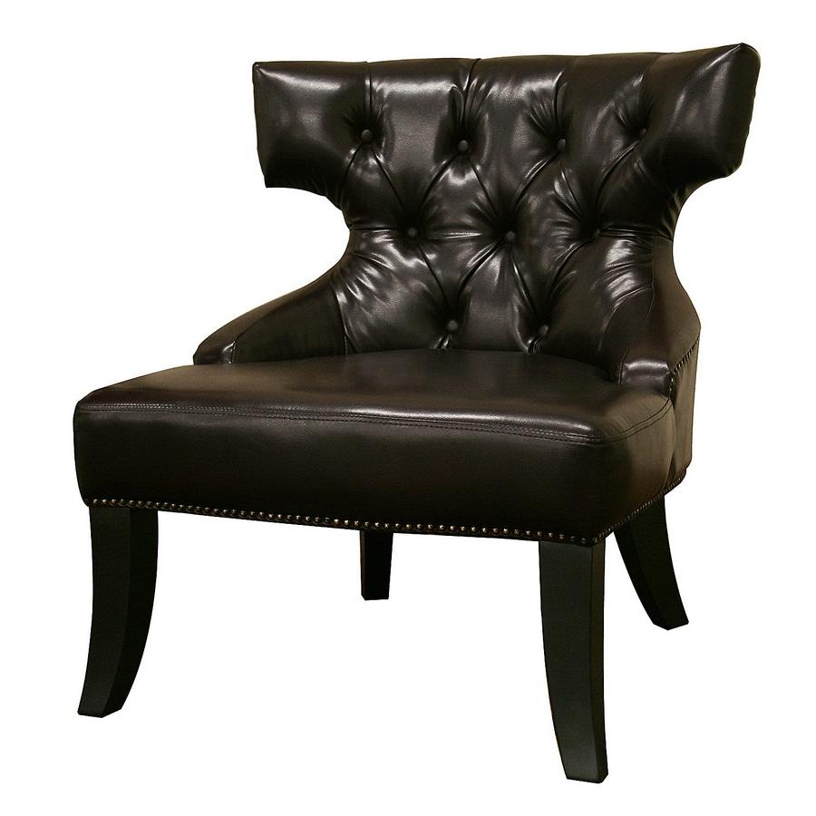 shop baxton studio baxton modern dark brown accent chair