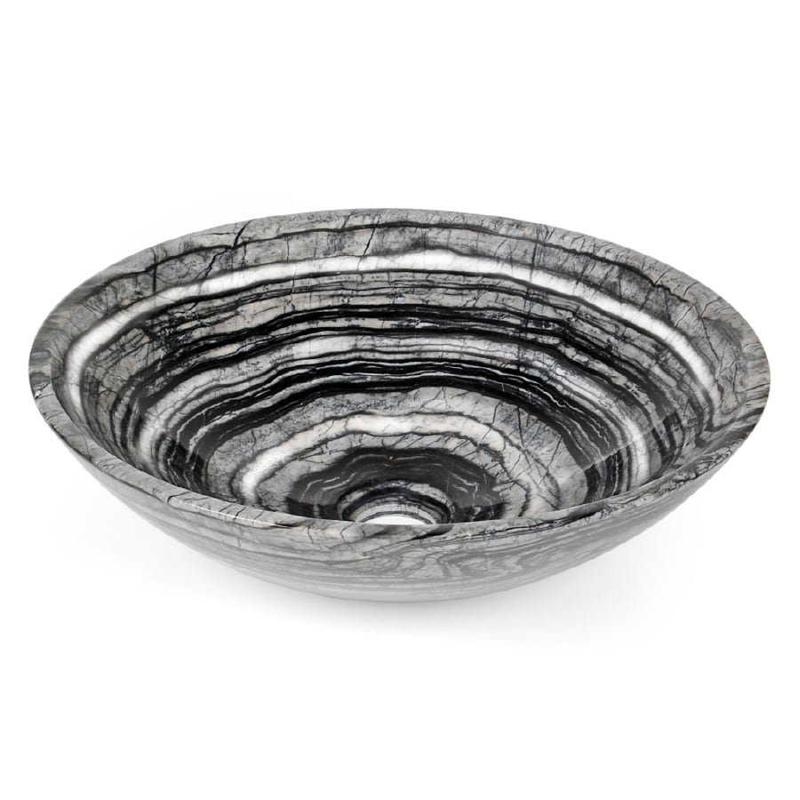 D'Vontz Black Marble Vessel Bathroom Sink