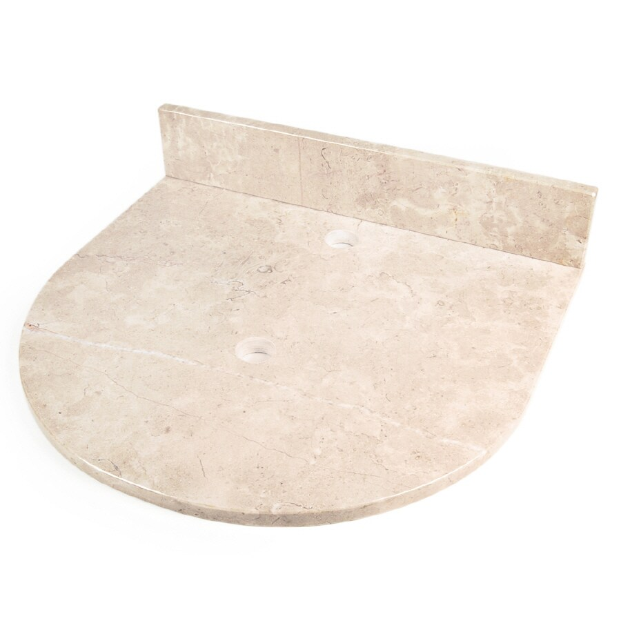 Shop D 39 Vontz Natural Stone Vanity Tops Crema Rossa Natural Marble Single