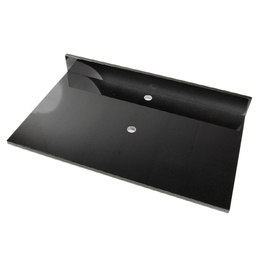 D'Vontz Shanxi Black Natural Marble Single Sink Bathroom Vanity Top (Common: 37-in x 22-in; Actual: 37-in x 22-in)