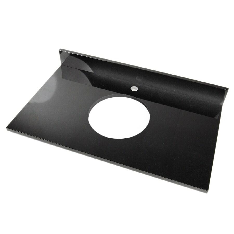 D'Vontz Natural Stone Vanity Tops Shanxi Black Granite Single Sink Bathroom Vanity Top (Common: 37-in x 22-in; Actual: 37-in x 22-in)