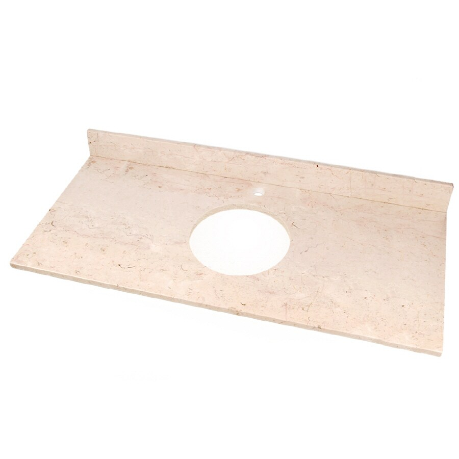 Shop D 39 Vontz Natural Stone Vanity Tops Crema Rossa Natural Marble Undermo