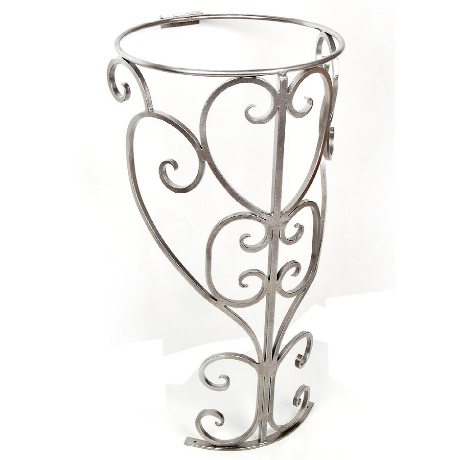 D'Vontz 30-in H Pewter Marble Pedestal Sink Base