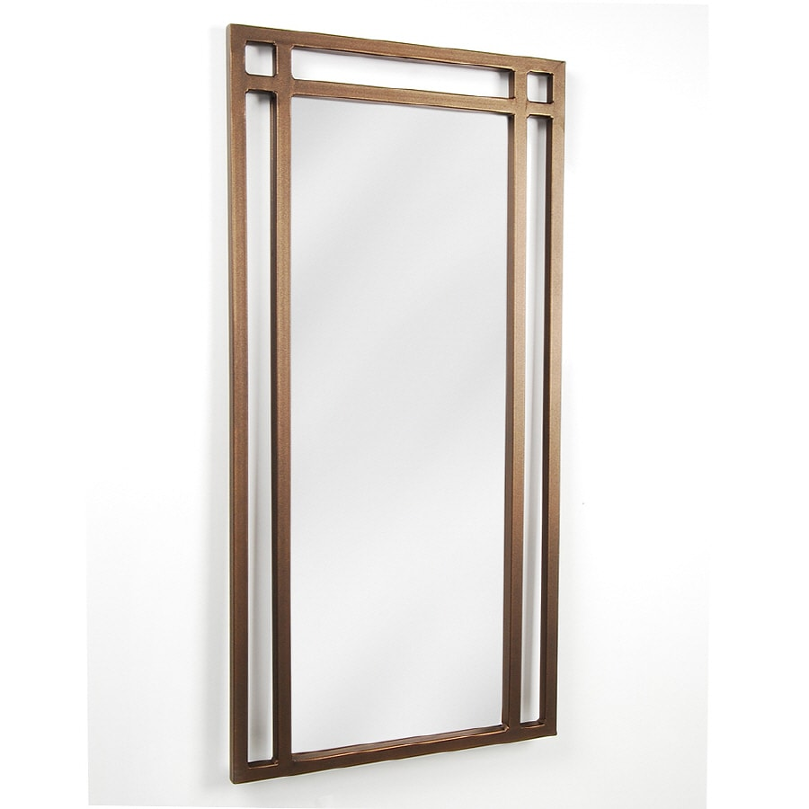 shop d vontz 18 in w x 36 in h bathroom mirror at lowes