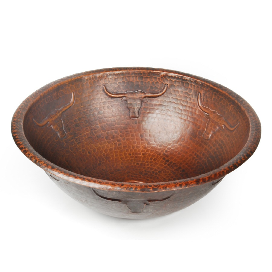 D'Vontz Copper Vessel Bathroom Sink