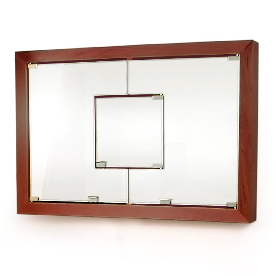 D'Vontz 23-in x 25.875-in Rectangle Surface Maple Mirrored Wood Medicine Cabinet