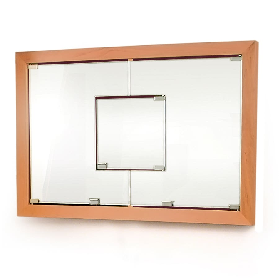 D'Vontz 23-in x 25.875-in Rectangle Recessed Maple Mirrored Wood Medicine Cabinet
