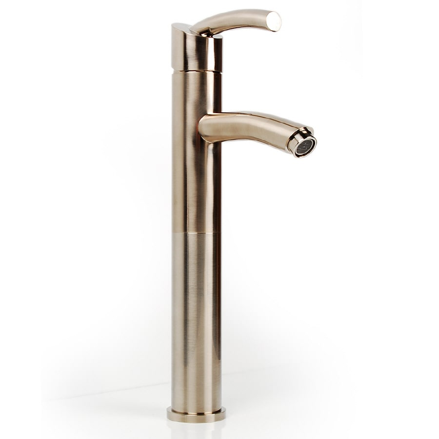 D'Vontz Baccus Satin Nickel 1-handle Single Hole Commercial Bathroom Faucet
