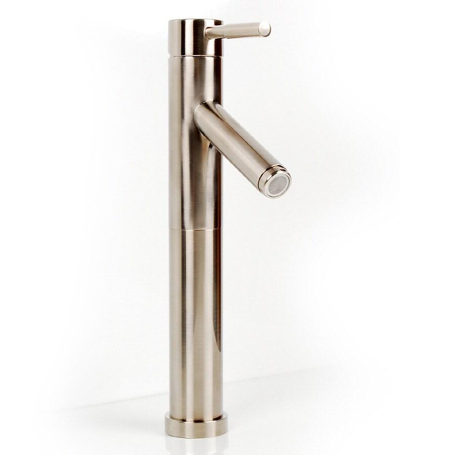 Shop D 39 Vontz Echo Satin Nickel 1 Handle Single Hole Bathroom Faucet At