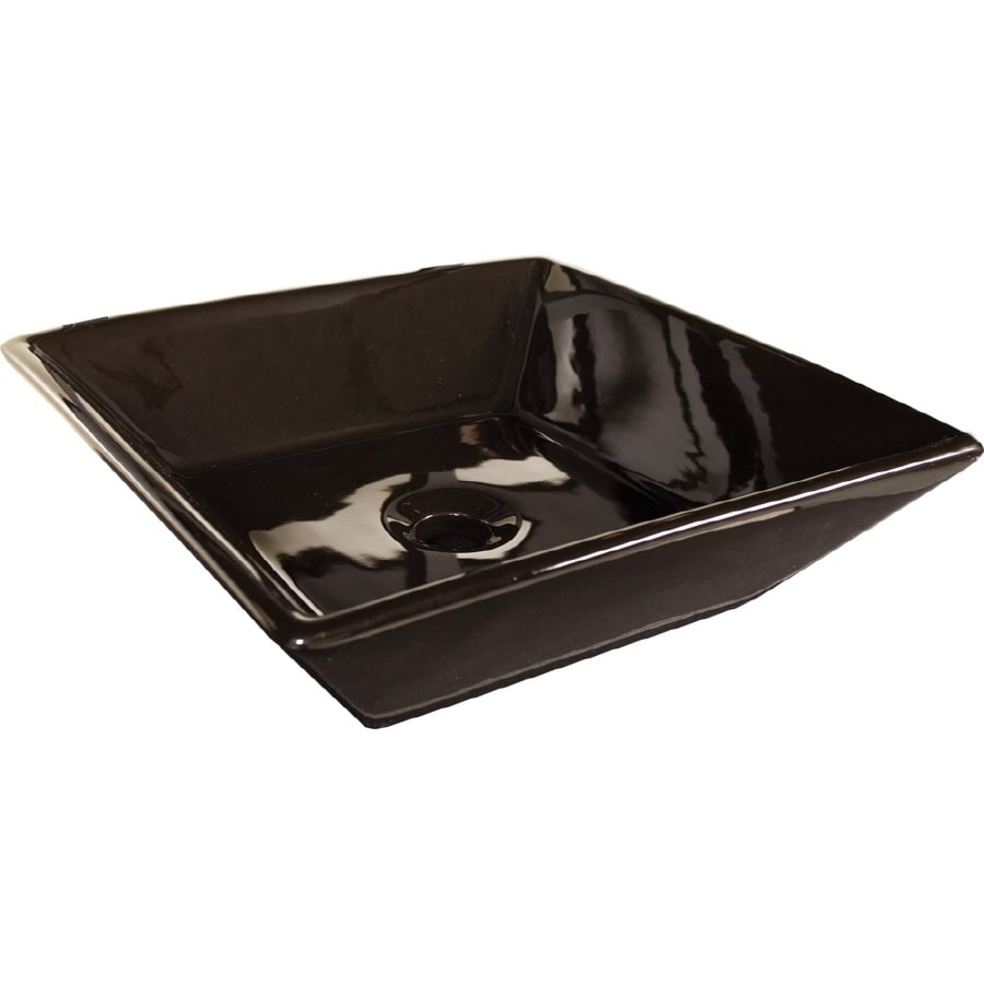 LOFT Black Vessel Square Bathroom Sink