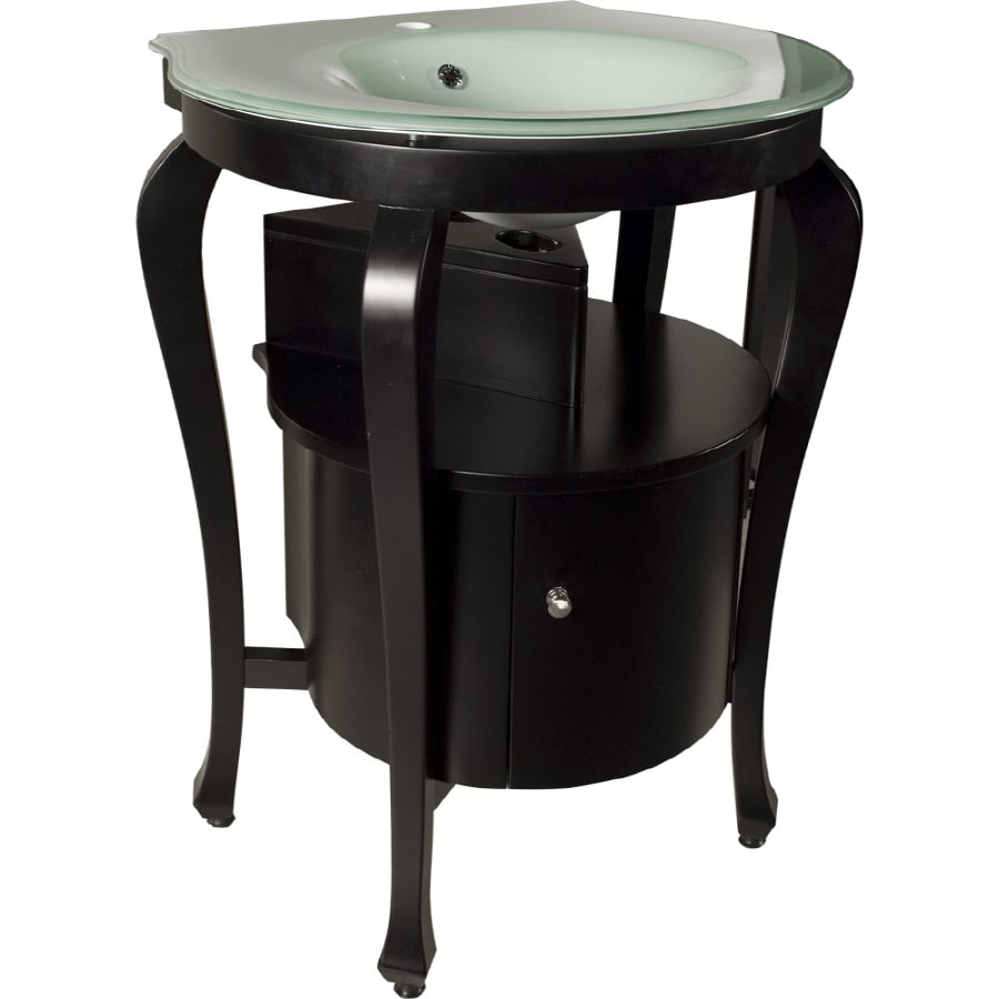 shop loft single sink bathroom vanity with top common 24 in x 22 in actual 25 in x 25 in at. Black Bedroom Furniture Sets. Home Design Ideas