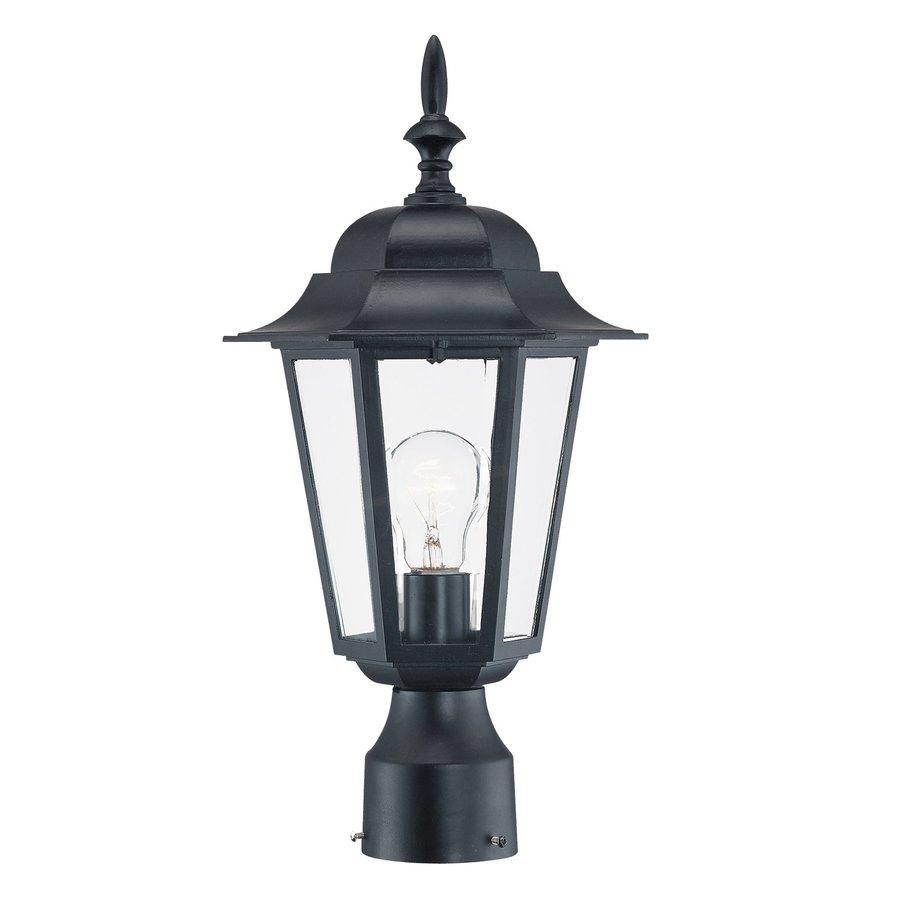 Acclaim Lighting Somerset 1 Light Matte Black Outdoor Post: Acclaim Lighting Camelot 100-Watt 15.25-in Matte Black