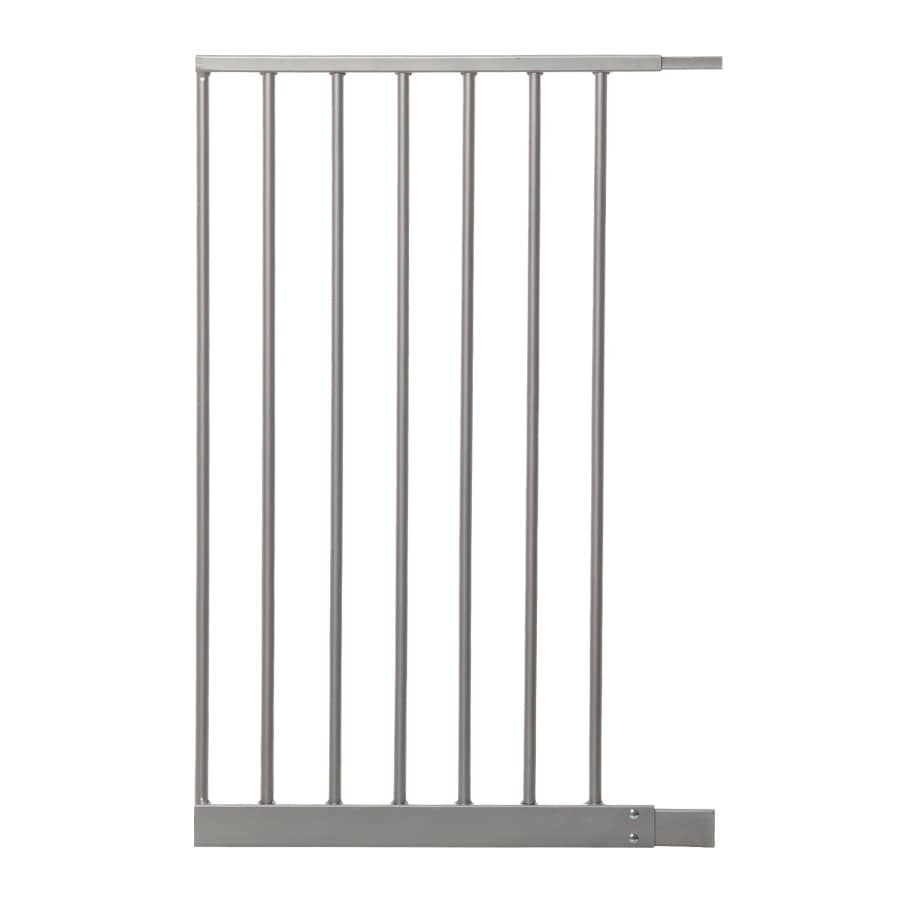 Dreambaby Empire Magnetic EZY-Check Auto-Close with Stay-Open Feature 16.5-in x 29.5-in Silver Metal Child Safety Gate