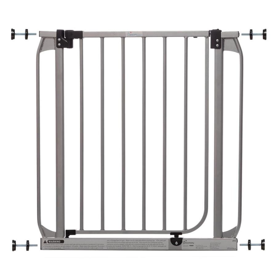 Dreambaby Dawson Auto-Close with Stay-Open Feature 32-in x 30-in Silver Metal Child Safety Gate