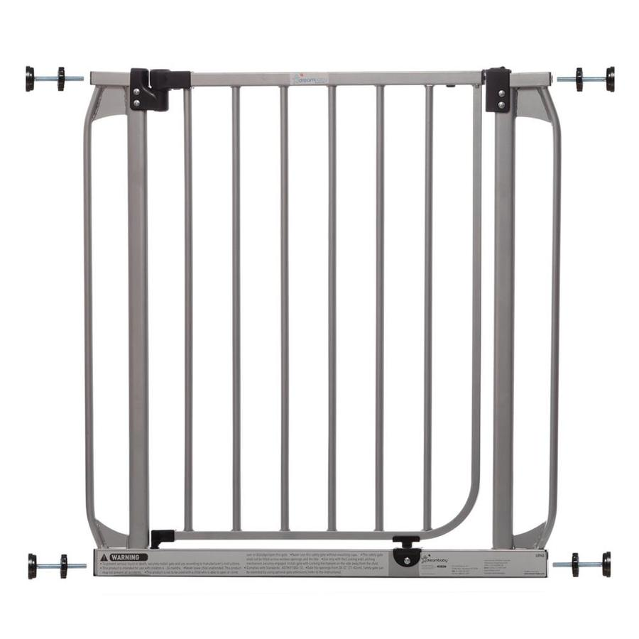 Dreambaby 32-in x 30-in Silver Metal Child Safety Gate