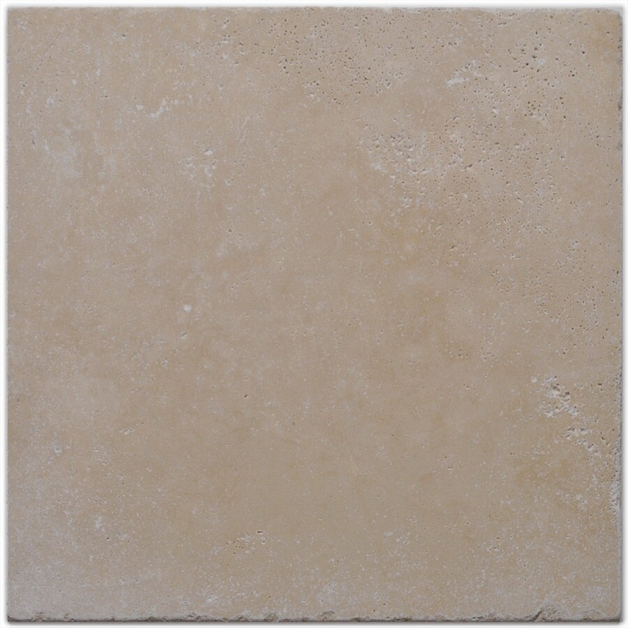 Big Pacific 18-in x 18-in Tuscany Light Travertine Floor Tile