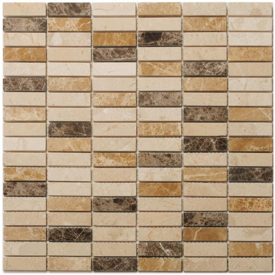 Big Pacific 12-in x 12-in Sand Beige Marble Floor Tile