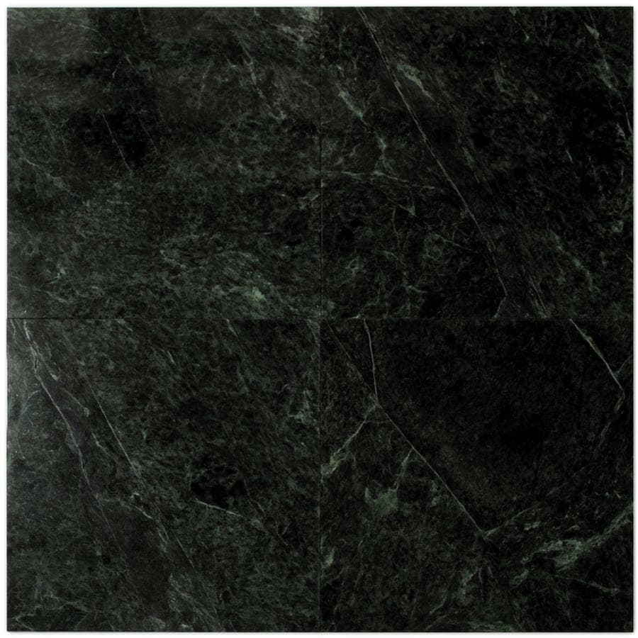 Shop Big Pacific 12 In X 12 In Dark Emerald Marble Floor Tile At