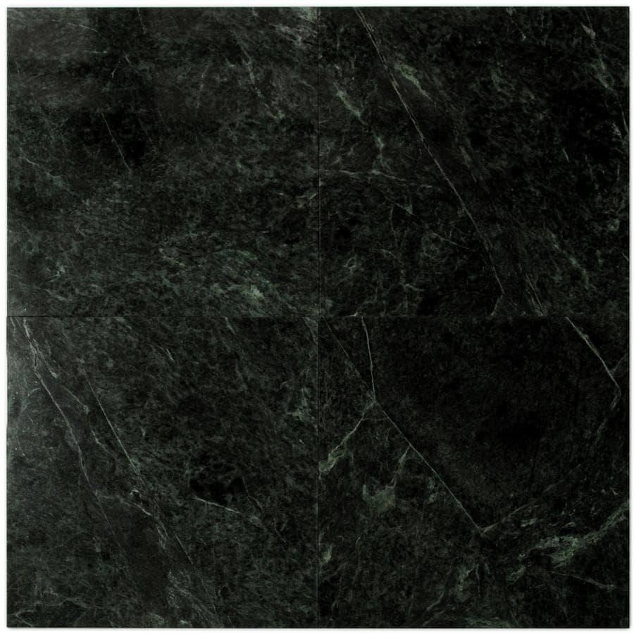 Pacific 12 In X Dark Emerald Marble Floor Tile