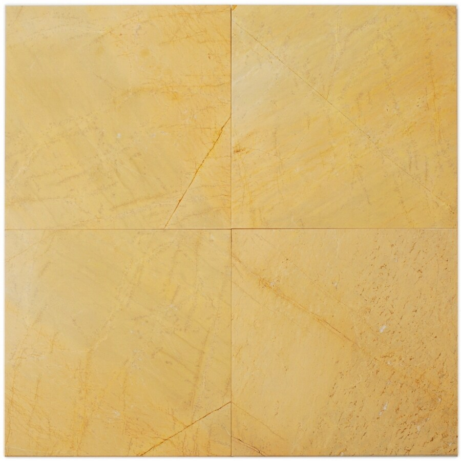 Big Pacific 12-in x 12-in Giallo Marble Floor Tile