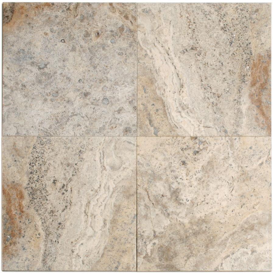 Big Pacific 12-in x 12-in Sterling Travertine Floor Tile