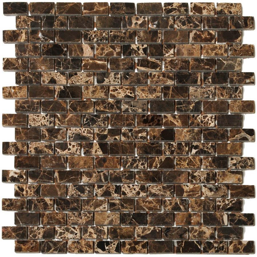 Big Pacific 12-in x 12-in Emperador Dark Marble Floor Tile