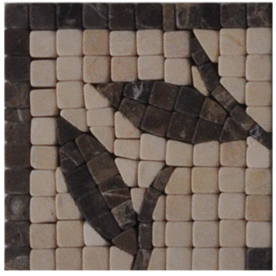 Big Pacific 3-7/8-in x 3-7/8-in Ivory Marble Floor Tile