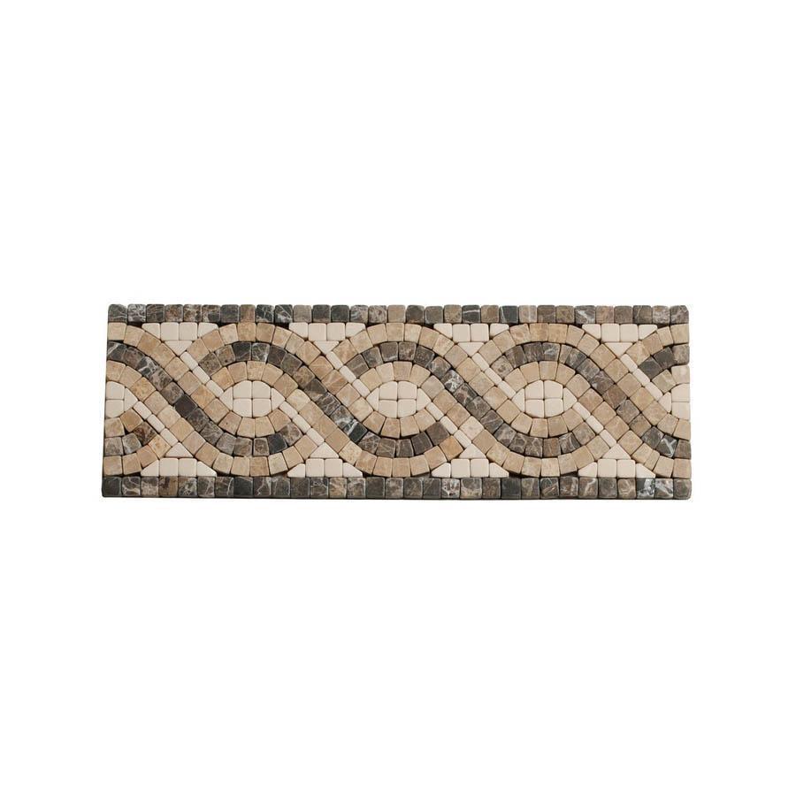 Big Pacific 3-7/8-in x 12-in Ivory Marble Floor Tile
