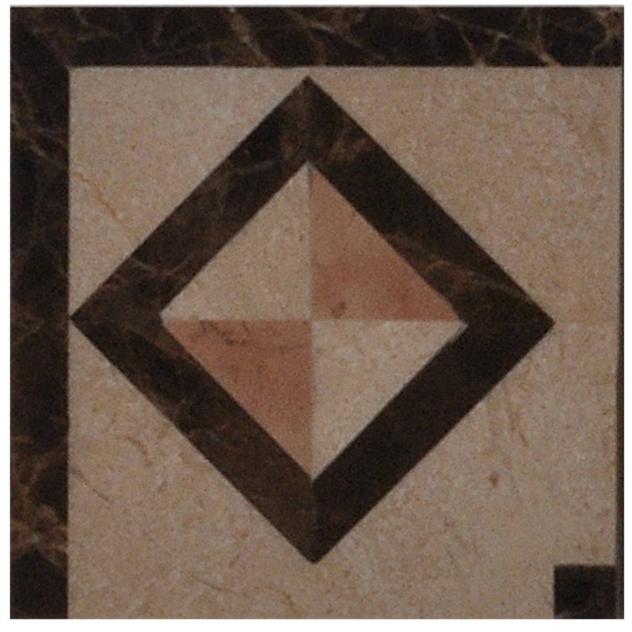 Big Pacific 4-in x 4-in Crema Marfil Marble Floor Tile