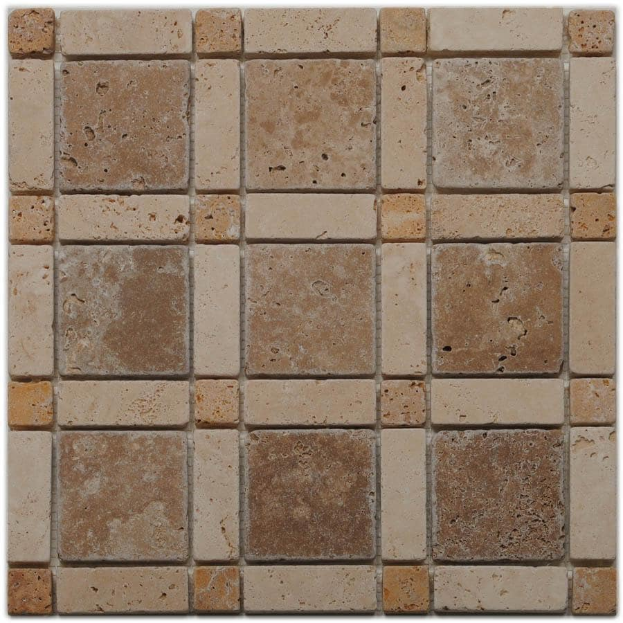 Big Pacific 12-in x 12-in Ivory Travertine Floor Tile