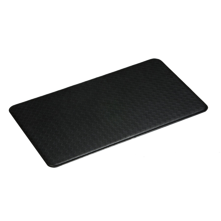 Imprint Black Anti-Fatigue Mat (Common: 2-ft x 6-ft; Actual: 26-in x 72-in)