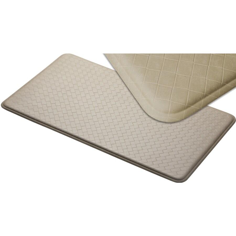 Imprint 26-in W x 72-in L Creme Anti-Fatigue Mat
