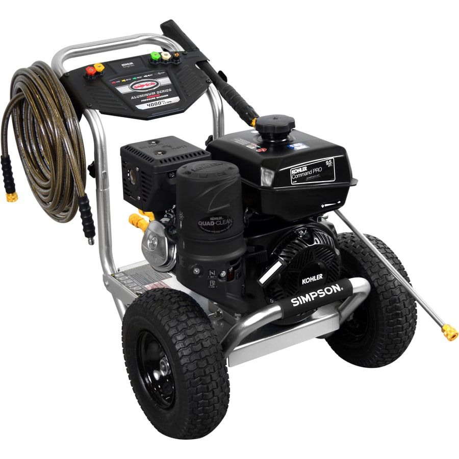 SIMPSON Aluminum 4000-PSI 3.3-GPM Cold Water Gas Pressure Washer CARB