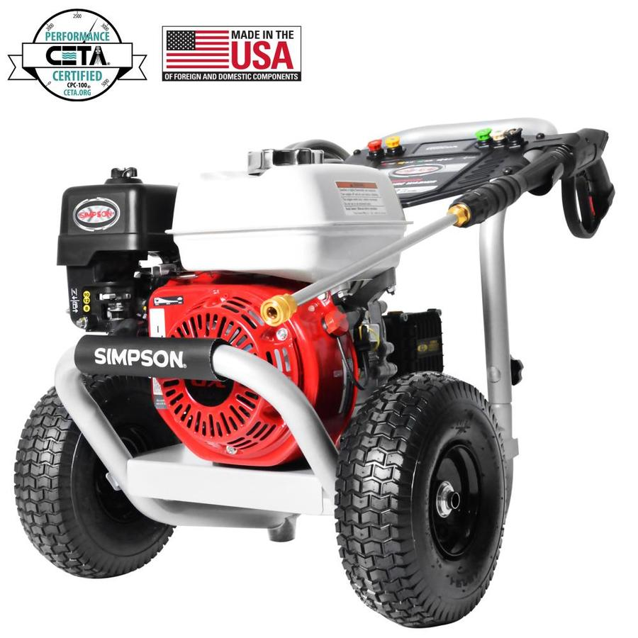 SIMPSON PowerShot 3600-PSI 2.5-GMP Cold Water Gas Pressure Washer (CARB)
