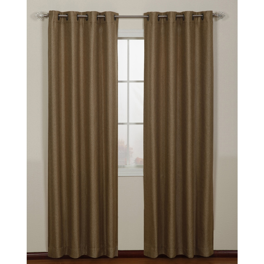 Stratford Park Aruba 95-in Spice Polyester Grommet Light Filtering Single Curtain Panel