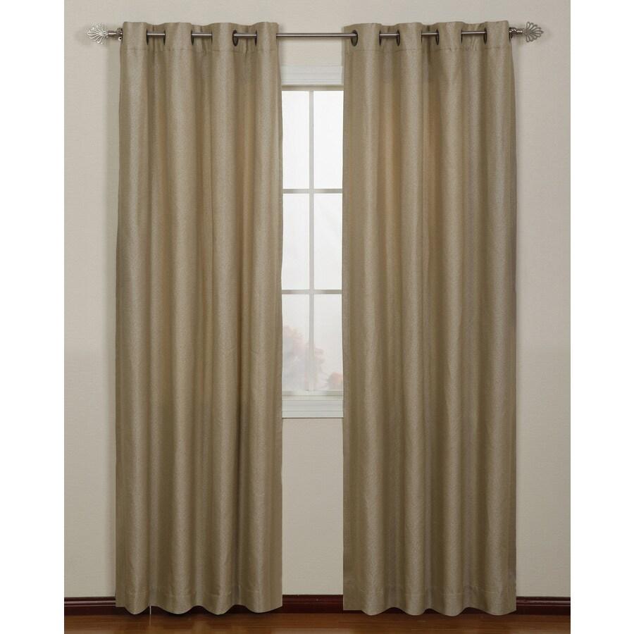 Stratford Park Aruba 84-in Sand Polyester Grommet Light Filtering Single Curtain Panel