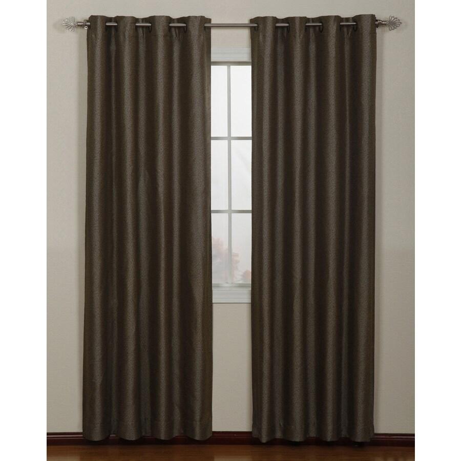 Stratford Park Aruba 63-in Coffee Polyester Grommet Light Filtering Single Curtain Panel