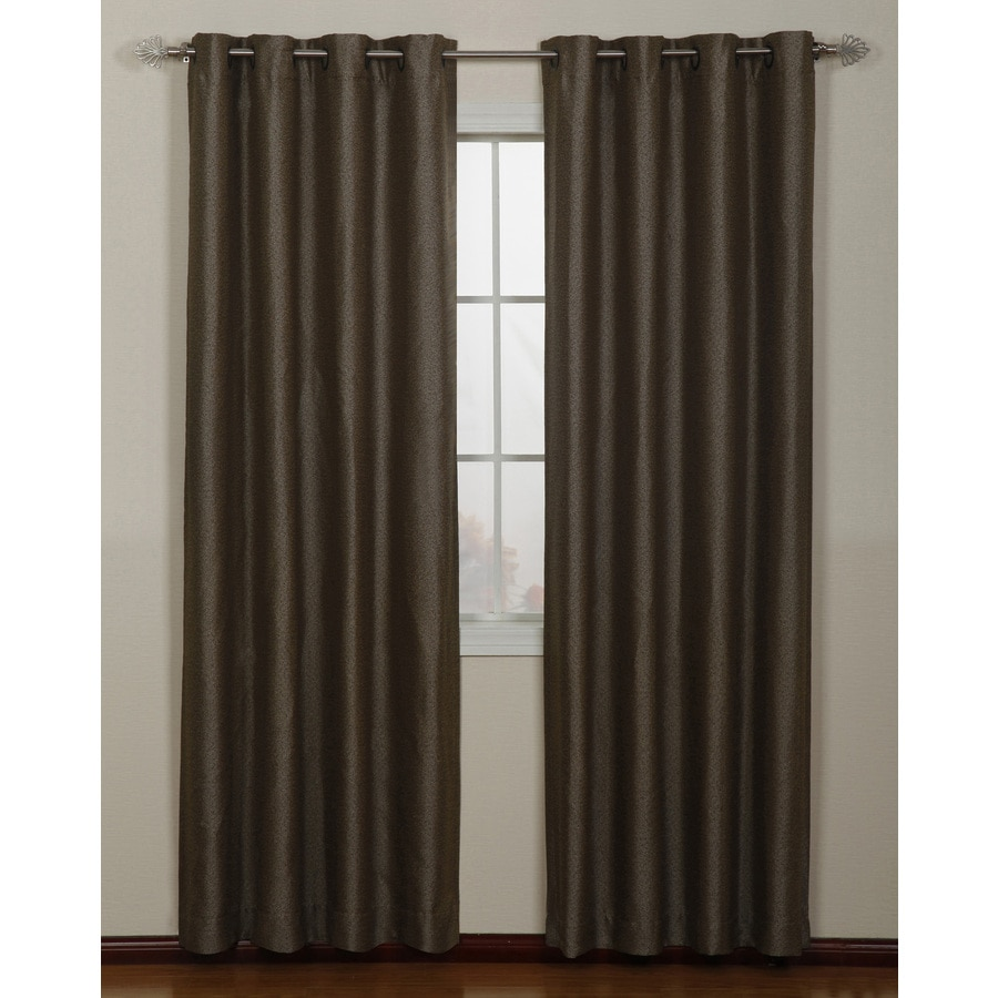 Stratford Park Aruba 84-in Coffee Polyester Grommet Light Filtering Single Curtain Panel