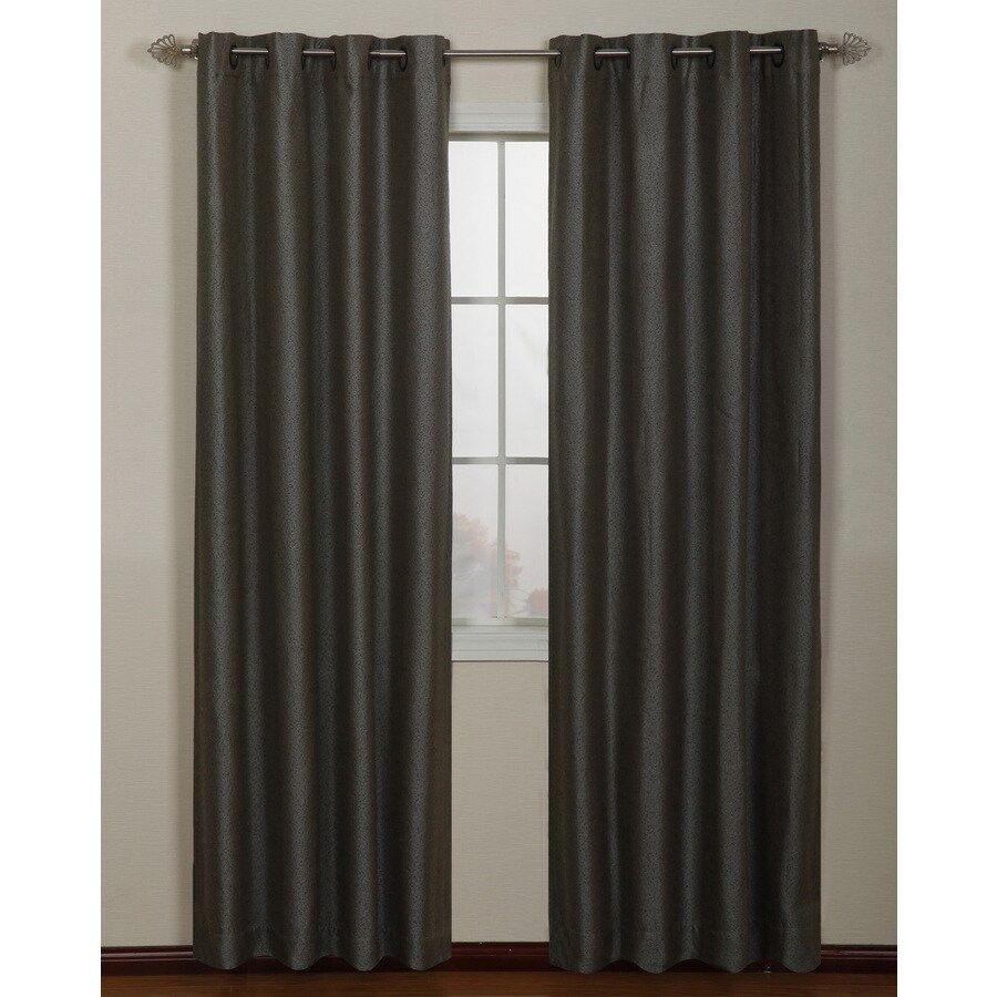 Stratford Park Aruba 84-in Mineral Blue Polyester Grommet Light Filtering Single Curtain Panel
