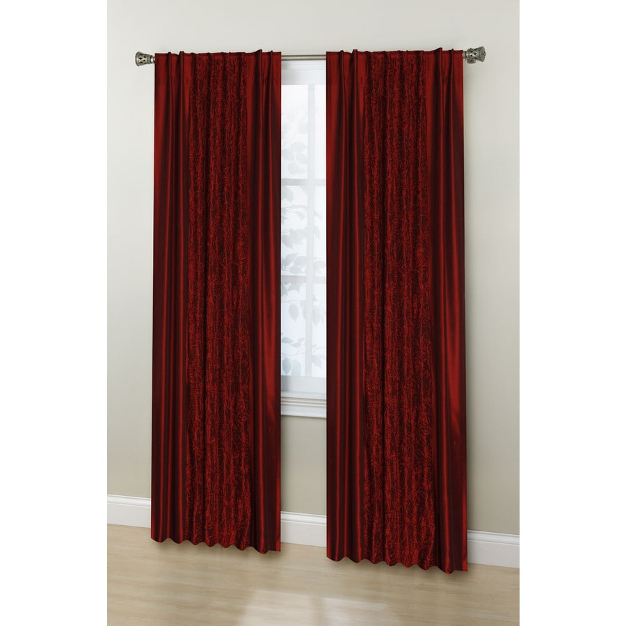 Stratford Park Granville 84-in Red Polyester Back Tab Room Darkening Curtain Panel Pair